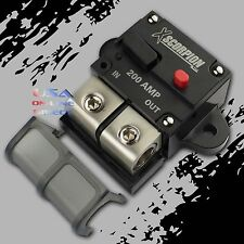 200A Amp Manual Reset Inline Circuit Breaker Platinum Terminal Block Marine Auto