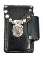Vintage Original - Harley Davidson - Black Leather - Cigarette & Lighter Holder