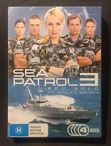 SEA PATROL - RED GOLD: SEASON 3 (DVD 2008, 4-DISC SET) COMPLETE SERIES THREE  R4