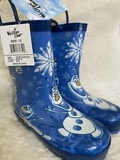 Western Chief Frozen Warm Hug Rain Boots Size 12 Toddler Boys Girls Unisex