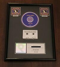 "ELTON JOHN ""THE ONE"" RIAA CERTIFIED DOUBLE PLATINUM ALBUM AWARD"