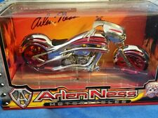 Arlen Ness Toy Zone Iron Legends 1:18 custom motorcycle chrome and red custom