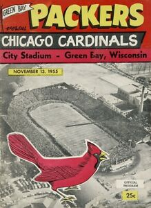 1955 GREEN BAY PACKERS vs CHICAGO CARDINALS 8X10 PHOTO FOOTBALL PICTURE NFL
