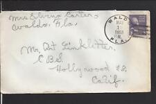 WALDO, FLORIDA 1953 PREXY COVER TO HOLLYWOOD,CA. ALACHUA CO 1858/OP.