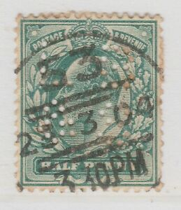 Perfin on Great Britain Used Stamp A22P16F8723