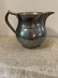 VTG Wilton Armetale PEWTER WATER PITCHER - PLOUGH TAVERN PITCHER  - Made In USA