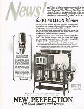 1920s BIG Vintage New Perfection Stove Oven Retro Kitchen Decor Art Print Ad