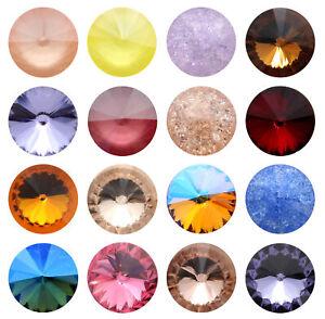 Genuine AURORA A1122 Rivoli Round Stones Crystals * More Colors & Sizes