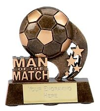 MAN OF THE MATCH FOOTBALL TROPHY SOLID RESIN FREE Engraving OF YOUR CHOICE A879