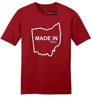 Made In Ohio Funny Mens Soft T Shirt Home State Pride Holiday Gift Tee Z2