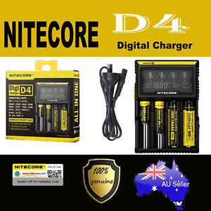 Nitecor D4 4 slot Smart Battery charger Lithium 17500 14500 10440 16340 RCR123
