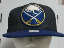 CCM NHL HOCKEY Buffalo Sabres FITTED S/M Blue Yellow Hat Cap Free shipping!