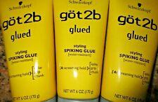 Lot of 3 Got2b Glued Styling Spiking Hair Glue Water Resistant 6 oz each