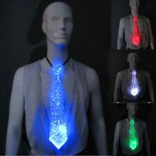 Fiber Optic Tie White Necktie 7 Colors - Light Up - Glow Optical Fibre