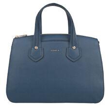 f36aaefae38c Furla 869532 Giada Grain Leather Ginepro Blue Medium Satchel Handbag  378