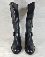 Colin Stuart Collection Tall Riding Equestrian Boots Black Leather Sz 9.5  Italy