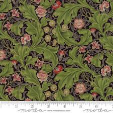 Moda MORRIS HOLIDAY Ebony Metallic 7313 13M Quilt Fabric By The Yard V&A Archive
