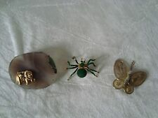 Lot trois broches animaux