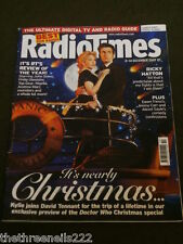 RADIO TIMES - DOCTOR WHO - DAVID TENNANT & KYLIE MINOGUE - DEC 8 2007