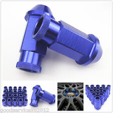 20 Pcs Blue Racing Wheel Rim Screw Extended Lug Nut M12 x 1.5MM for Toyota Lexus