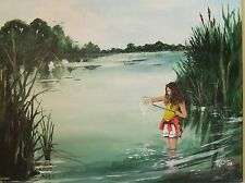 FISHING TRIP ORIGINAL PAINTING ON CANVASS