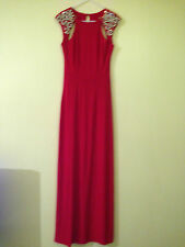 Lipsy Vip Women's Red Maxi Dress With Jewelled Shoulder  (RED) RRP £160.00