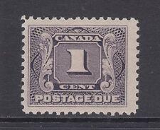 Canada Sc J1 MLH. 1906 1c violet Postage Due, F-VF