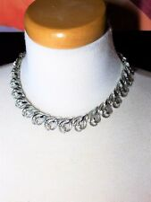 Gorgeous Silver Tone Vintage Necklace Possibly Coro clasp