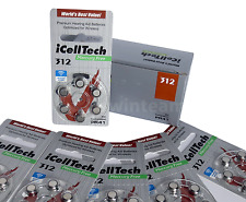 "iCellTech ""Platinum"" Size 312 Mercury Free Hearing Aid Batteries 60 Batteries"
