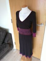 Ladies Dress Size 12 WHITE STUFF Brown Jumper Knit Smart Casual Day