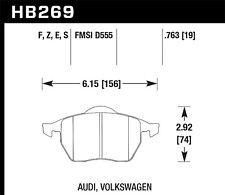 Hawk HPS Front Brake Pads For 92-02 Audi / Volkswagen #HB269F.763A