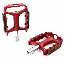 "Wellgo M-111 9/16"" Aluminum MTB Platform Bike Pedal - Red"