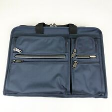 Tumi Alpha 3 Compact Large Screen Laptop Briefcase Navy Blue Nylon NWT