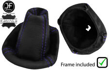PURPLE STITCH LEATHER GEAR BOOT WITH PLASTIC FRAME FITS SMART FORFOUR 2004-2006