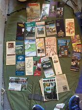 Vintage Quebec Travel Material Brochures 1980's