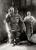 Antique Photo Diving Suit 1911 Patented Invention Vintage Photo Print 5x7