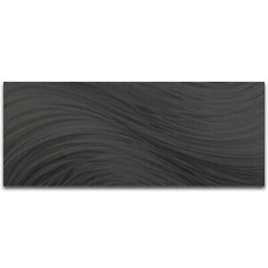 Original Abstract Metal Wall Art Modern Home Decor Contemporary Black Painting