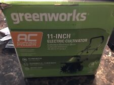GreenWorks TL08B00  11 inch 8.5 Amp Tiller Discounted For Opening Box Never Used