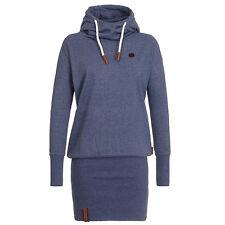 Women's Funnel Neck Hooded Sweatshirt Casual Hoodies Bodycon Tunic Jumper Dress