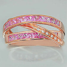 9 Carat Rose Gold Sapphire Fine Rings