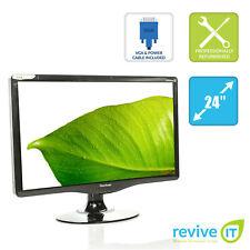 "ViewSonic VA2431wm 24"" Widescreen 1920x1080 Full HD LCD Monitor DVI VGA Grade A"