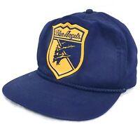 Vintage 1980s Patched US NAVY BLUE ANGELS Hat Cap #A14