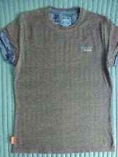 SuperDry T-Shirt, ka, blau-meliert, Brustlogo, Gr. L, TOP!