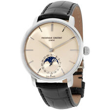 Frederique Constant Slimline Ivory Dial Leather Strap Men's Watch FC705BG4S6
