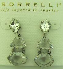 Sorrelli Rainbow Quartz Earrings EDK33ASRQ antique silver tone