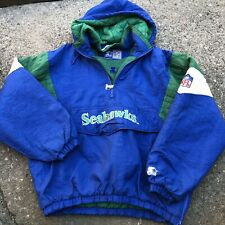 Vintage NFL Seattle Seahawks Starter Jacket Pullover Authentic Size Xl