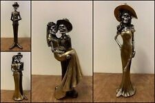 Gothic Skeleton Day Of The Dead Figurines Newlywed Mexican Ornament Husband Wife