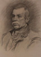 George Hodgson (1847-1921) - 19th Century Graphite Drawing, Portrait of a man
