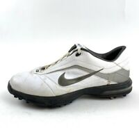 Nike Air Academy Mens 10 Golf Shoes White Black Lace Up Cleats 379224-191