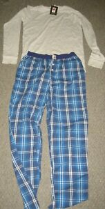 John Lewis Boys  pyjamas 2yeas Grey Top Red Check 14years Grey Top Blue Check
